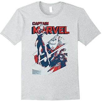 Marvel Captain Earth's Mightiest Hero Intro Graphic T-Shirt