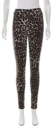 Norma Kamali High-Rise Leopard Leggings