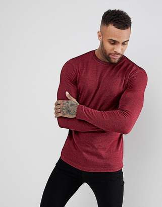 Asos DESIGN Long Sleeve T-Shirt In Heavy Twisted Jersey In Oxblood