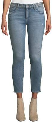 DL1961 Premium Denim Florence Mid-Rise Instasculpt Studded Skinny Jeans