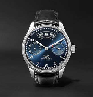 IWC SCHAFFHAUSEN Portugieser Annual Calendar 44.2mm Stainless Steel And Alligator Watch