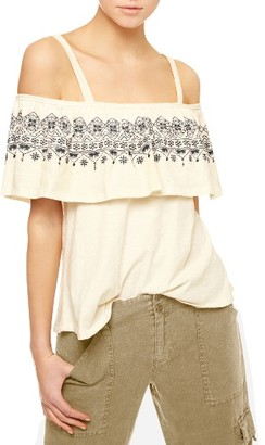 Women's Sanctuary Helena Off The Shoulder Ruffle Top $59 thestylecure.com