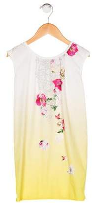 John Galliano Girls' Floral Print Dress