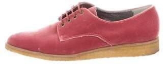 Rachel Comey Velvet Pointed-Toe Oxfords