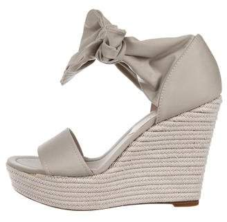 Donald J Pliner Canvas Wrap-Around Wedges