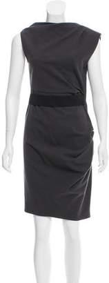 Lanvin Belted Wool Dress
