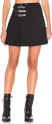 McQ Alexander McQueen Buckle Pleat Skirt $575 thestylecure.com