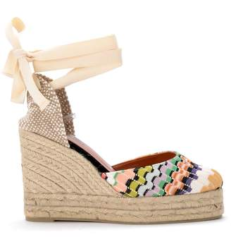 Castaner By Missoni Carina Multicolor Sandal With Wedge.