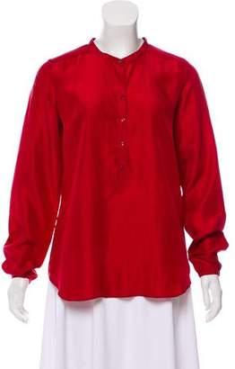 Calypso Silk Long Sleeve Top