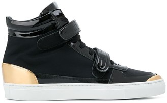 Louis Leeman double strap hi top sneakers