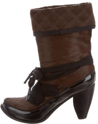 Marc JacobsMarc Jacobs Ponyhair & Patent Leather Booties