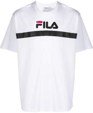 Fila large logo print T-shirt