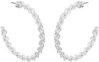 Oliver Bonas Skeeter 3D Chain Hoop Earrings