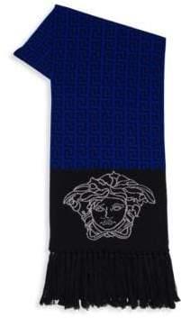 Versace Colorblock Wool Scarf