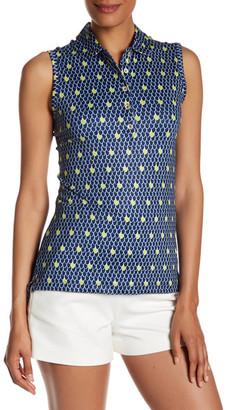 Peter Millar Sleeveless Button Printed Self Collar Polo $79.50 thestylecure.com