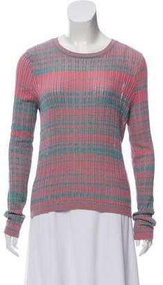 White + Warren Open Knit Long Sleeve Top