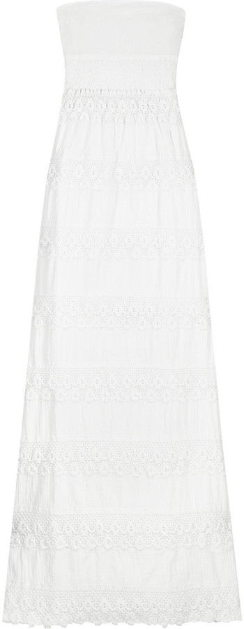 Melissa Odabash Strapless crochet maxi dress