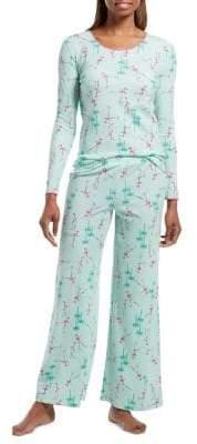 Hue Burr-Lizzard Two-Piece Pyjama Set