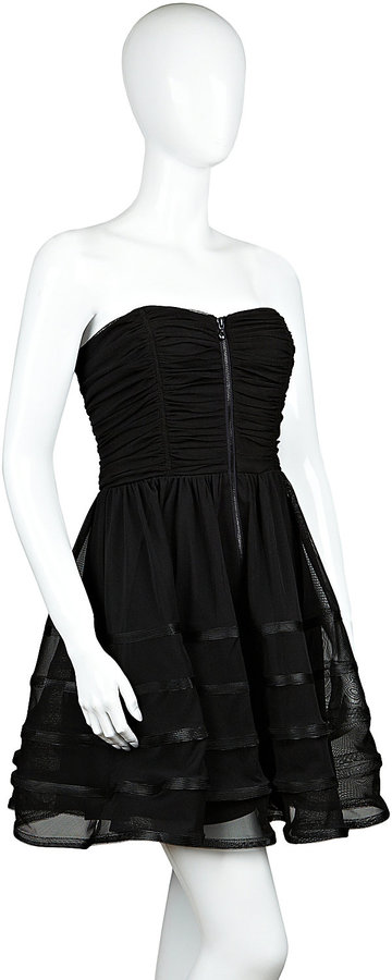 Betsey Johnson Solid Ruched Dress