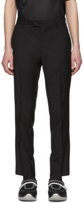 Prada Black Mohair Trousers