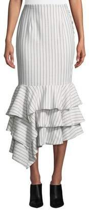 NBD Ayesha Striped Flounce Skirt