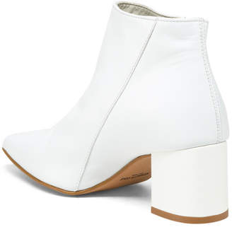 Made In Italy Side Zip Leather Booties