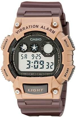 Casio Men's W-735H-5AVCF Vibration Alarm Digital Watch