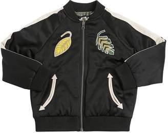 Stella McCartney Reversible Satin & Poplin Bomber Jacket