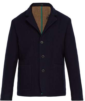 Paul Smith Double Faced Wool Jacket - Mens - Navy