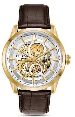 Bulova Sutton Skeleton Watch, 43mm