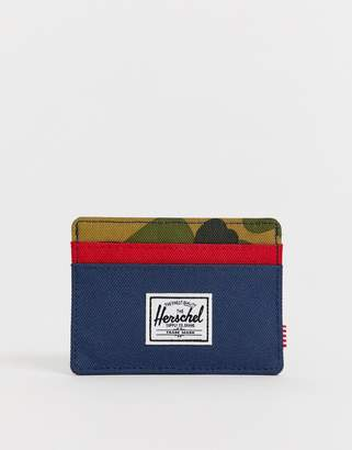 Herschel Charlie RFID card holder in colour block