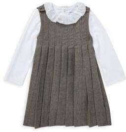 Ralph Lauren Girl's Two-Piece Dress& Bodysuit Set