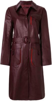 Bottega Veneta dark barolo calf coat
