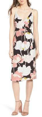 Cupcakes And Cashmere Chayene Water Lilies Wrap Dress