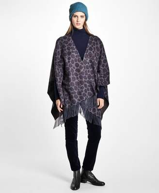 Brooks Brothers Double-Faced Animal-Print Cashmere Ruana