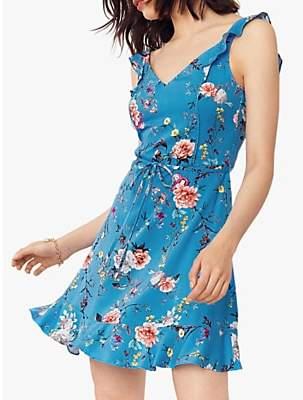 Oasis Floral Print Dress, Multi/Blue