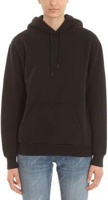 Balenciaga Hoodie Back Logo Black Cotton Printed Sweatshirt