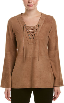 Diane von Furstenberg AS by As By Mallorca Suede Tunic