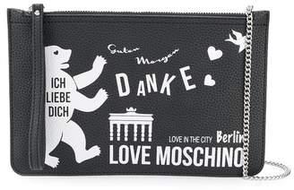 Love Moschino flat Berlin clutch