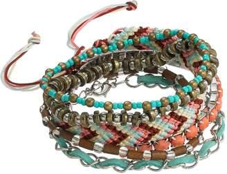 Mudd Beaded Stretch & Woven Bracelet Set