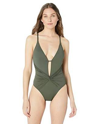 La Blanca Women's Island Goddess Twist Front One Piece Swimsuit