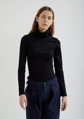 Vetements Fitted Inside-Out Long Sleeve Turtleneck Top