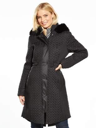 Karen Millen Lightweight Padded Coat - Black