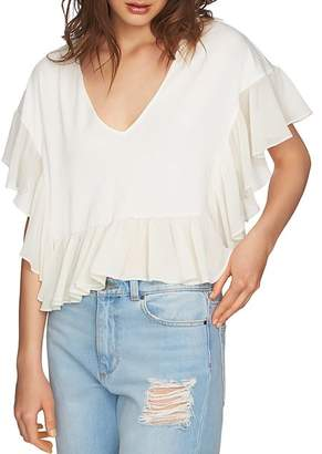 1 STATE 1.STATE Ruffle-Trimmed Crop Top