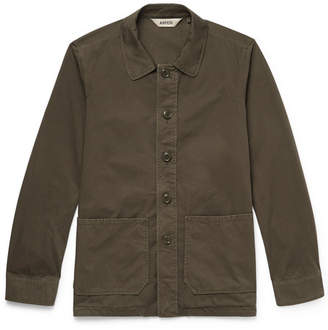 Aspesi Garment-Dyed Cotton-Twill Shirt Jacket - Men - Green