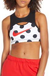 Nike Collection Polka Dot Medium Support Sports Bra
