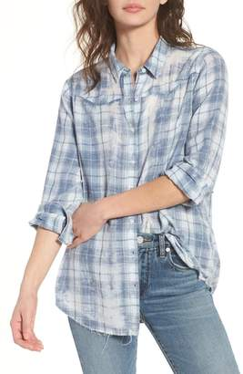 BP Washed Plaid Top