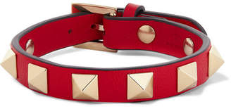 Valentino Undercover Garavani Rockstud Leather Bracelet - Red