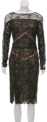 Elie Saab Lace Midi Dress w/ Tags