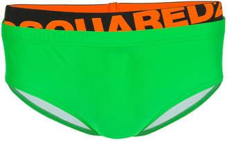 DSQUARED2 neon swim briefs